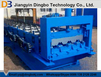 Galvanized Steel Sheet Floor Deck Roll Forming Machine 10-12m/Min