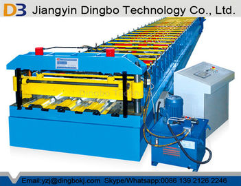 Galvanized Steel Floor Deck Roll Forming Machine With Hydraulic Uncoiler